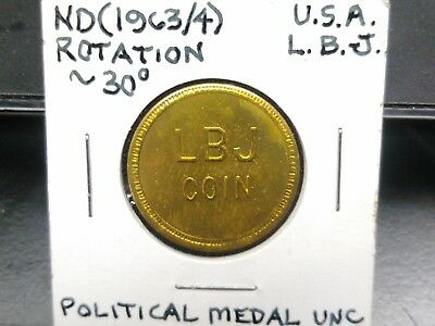 "1963 Lyndon Johnson political medal, ""LBJ Coin"""