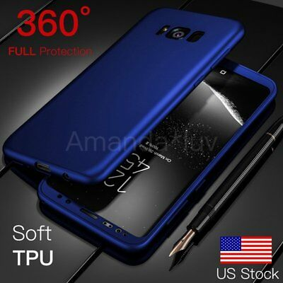 360 Soft TPU Cover for Samsung Galaxy S8 S8 Plus Case Shockproof Silicone Matte