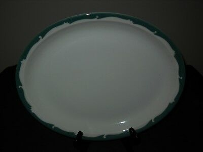 Vintage Syracuse China Oval Plate / Platter Restaurant-ware WINTERGREEN ~Nice