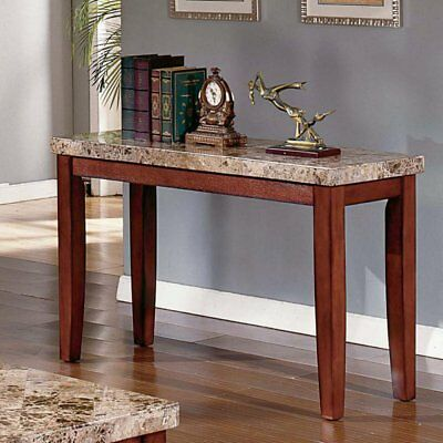 Steve Silver Montibello Marble Top Console Table, Cherry, 48 Inches