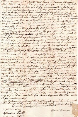1813, Reading, Mass; 13 year old girl, apprenticeship contract, Overseers signed
