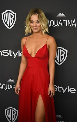 Kaley Cuoco Posing With Red Suit 8x10 Glossy Photo Print