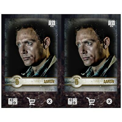 2x ALONE MARATHON WAVE I AARON Topps Walking Dead Trader Digital Card