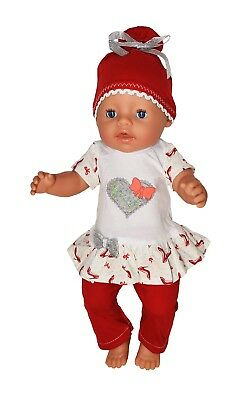 Baby Born Doll dress, T- shirt, Jacket, Shoes, Tights, Leggings, Doll up to 43cm