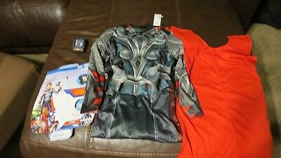 Avengers Marvel Thor costume Halloween Size S Small 6 childs kids cape dress up