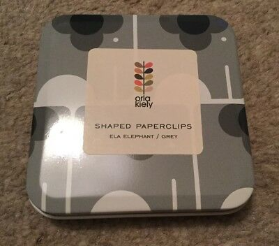 Orla Kiely Ela Elephant Paperclips Tin Contains 30 Paperclips