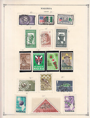 Nigeria - 1964/1964 stamp collection on double-side Scott pages