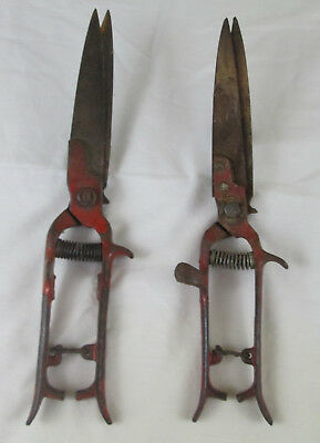 Vintage Pruning Shears Trimmers Fulton Tempered Steel Made In USA Lot of TWO