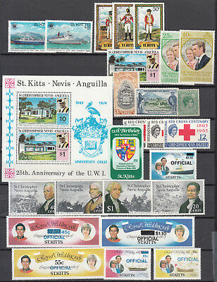 St.Kitts - Nevis - small stamp lot - MNH