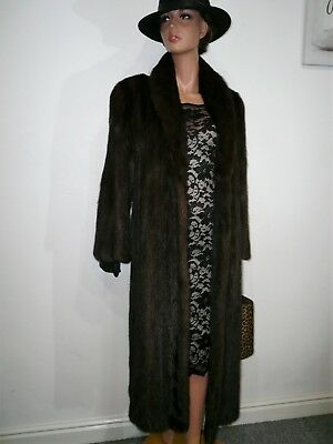 Genuine Saga Real Mink Fur Coat Jacket Full Length Норка Vison Nerz 12 - 14 - 16