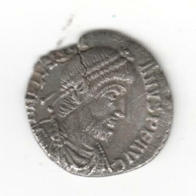 Unidentified Roman Silver Siliqua Coin . Auction Start £1 Unusual Type