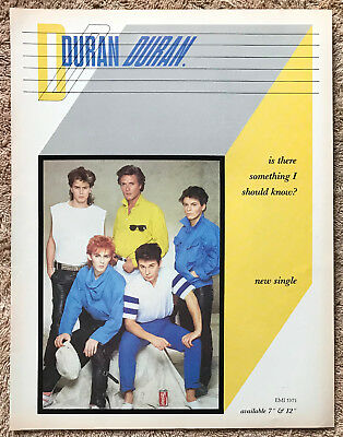 DURAN DURAN - IS THERE SOMETHING I SHOULD KNOW? 1983 Full page UK magazine ad