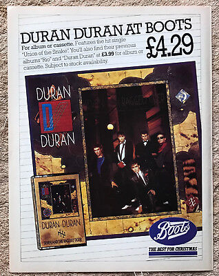 DURAN DURAN - SEVEN AND THE RAGGED TIGER 1983 Full page UK magazine ad
