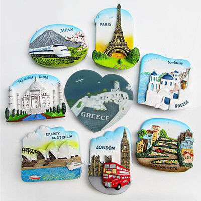 Tourist Travel Souvenir 3D Resin Fridge Magnet Refrigerator Magnet Home Decor