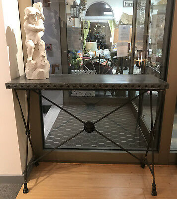 Industrial Table with Removable Top