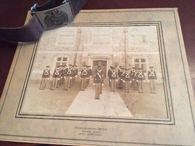 VIRGINIA POLYTECHNIC INSTITUTE VPI CADETS BELT BUCKLE GROUP PHOTO MILITARY 1930s