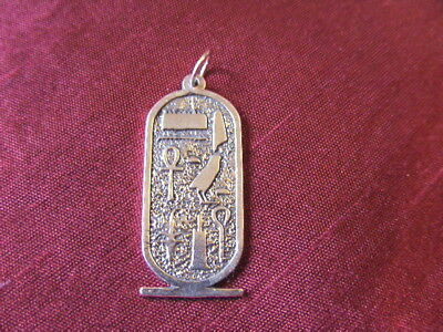 Solid Sterling Silver Pendant Egyptian Cartouche Hand Made By Me.