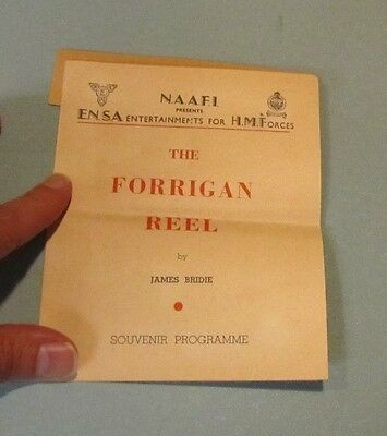 1945 WWII ENSA His Majesty's Forces The Forrigan Reel Program James Cairncross