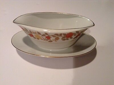 Royal M by MIZUHO Gravy Boat w/Under Plate, Fine China Japan SHERIDAN 5921