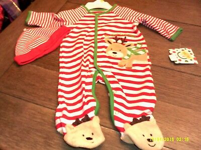 NWT My First Christmas Footed sleeper size 3months