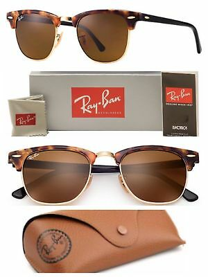 3391fe770d Ray-Ban Clubmaster Sunglasses RB3016 1160 Brown Lens 51mm Tortoise   Gold  Frame