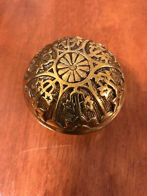 Single Victorian Antique Style Recreated Eastlake Solid Brass Door Knob