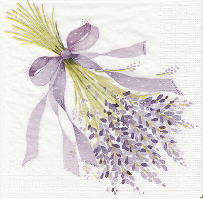 4x Paper Napkins for Decoupage Craft Nigel Quiney: Lavender