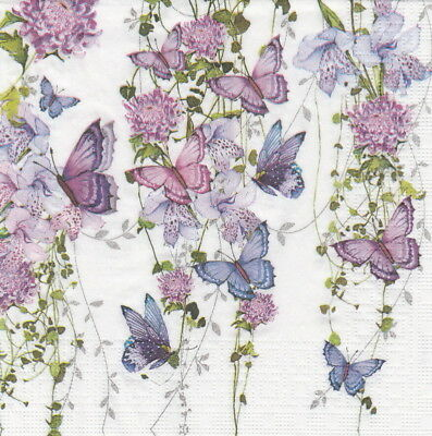 4x Paper Napkins for Decoupage Craft Nigel Quiney: Butterfly Splash