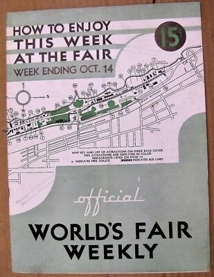 1933 CHICAGO Official Worlds Fair Weekly WEEK ENDING OCT 14 CENTURY OF PROGRESS
