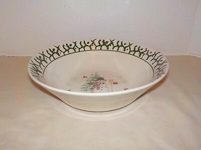 """""""WE CAN BUILD A SNOWMAN"""" Stoneware Round Serving/Vegetable Bowl- 9"""""""
