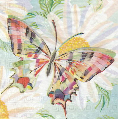 4x Paper Napkins for Decoupage Craft Turnowsky: Echo Butterfly