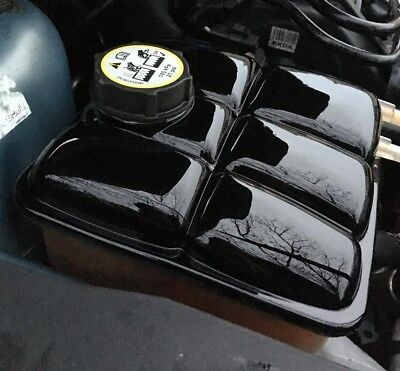 Ford Focus mk2 RS ST header expansion tank and cap cover ABS gloss black