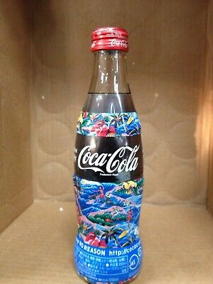 JAPAN Shop No Reason 2004 screw top Coca-Cola Coke glass bottle 250 ML Blue