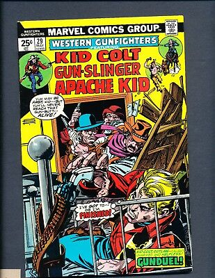 Western Gunfighters 29 (May 1975, Marvel) Kid Colt, Hi Grade Bronze Age Comic