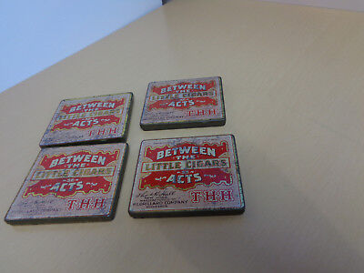 4 Vintage Between the Acts Little Cigars Pocket Tins