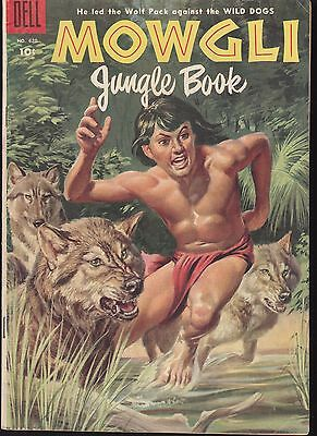 MOWGLI -JUNGLE BOOK  #620 1955 DELL by KIPLING  LEADER OF THE WOLF PACK...FN