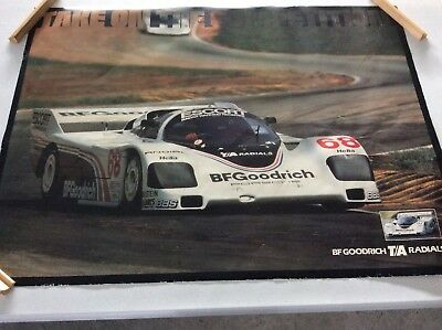 BF GOODRICH PORSCHE POSTER radials Take On The Competition Racing  35x26