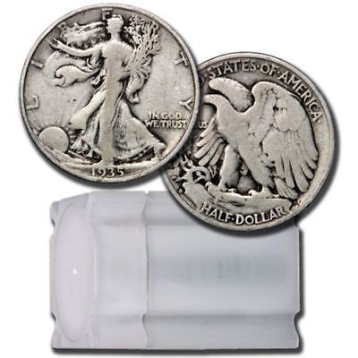 FULL DATES  Roll of 20 $10 Face Value 90% Silver Walking Liberty Half Dollars