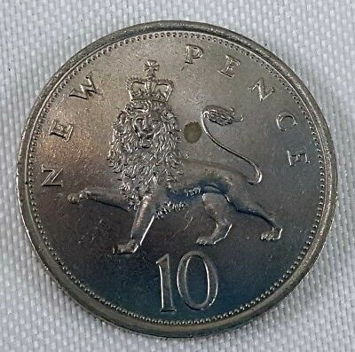 1980 UK Great Britain Ten New Pence Coin Elizabeth II Crowned Lion G circulated