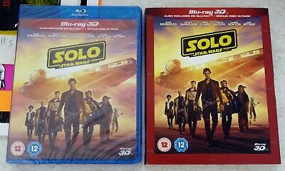 Solo A Star Wars Story 3D Blu-Ray / Blu-Ray Set Uk Region Free + Slipcover New!