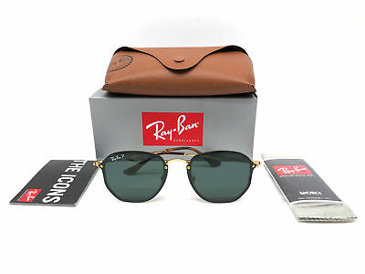 Great New Authentic Ray Ban Rb3579N 001 71 Blaze Hexagonal Gold Made In  Italy dca616a939