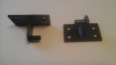 heavy duty wrought iron gate hinges with 10mm diameter pins painted black