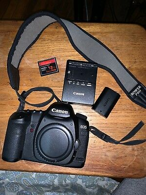 Canon EOS 5D Mark II 21.1MP Digital SLR Camera - Black (Body Only) 80,000 Count
