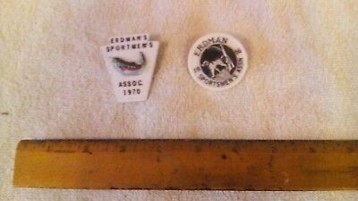 lot of 4 vintage Erdman Sportsman Club badges