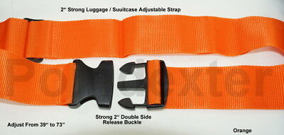2 Inch Adjustable Luggage Straps,Travel Bag Suitcase Belt, Your Color Choice USA