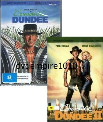 Crocodile Dundee DVD 1 & 2 (seperate dvd set) New Sealed Australia All Regions