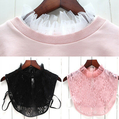 New Women Blouse False Collar Clothes Shirt Detachable Collars Lace Floral