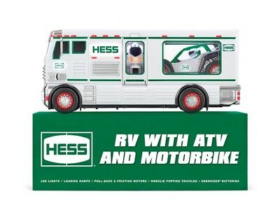 2018 HESS RV Truck with ATV and Motorbike NEW IN BOX
