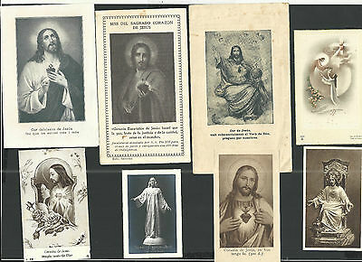 8 Estampas antiguas Sagrado Corazon de Jesus andachtsbild santino holy card