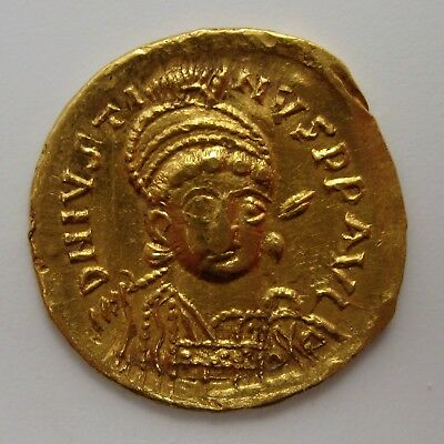518-527 AD Byzantine Empire JUSTIN I Solidus GOLD Ungraded ANCIENT Coin 4.2 gm